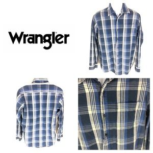 Wrangler Long Sleeve Plaid Button Western Shirt M